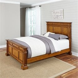 Home Styles Americana Panel Bed in Oak