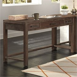 Home Styles Barnside Wood Writing Desk in Weathered Brown