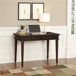Home Styles Bermuda 2 Drawer Wood Writing Desk in Espresso