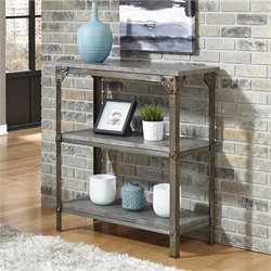 Home Styles Urban Style 3 Shelf Console Table in Aged Metal