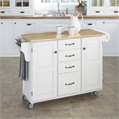 Home Styles Furniture Kitchen Cart in White