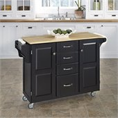 Home Styles Furniture Kitchen Cart in Black