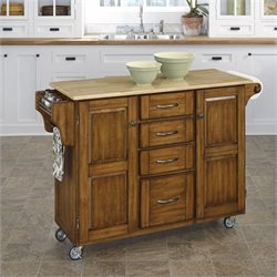 Home Styles Furniture Kitchen Cart in Cottage Oak