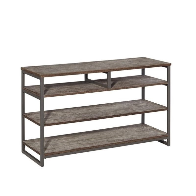 Home Styles Barnside Metro TV Stand in Gray