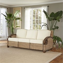 Home Styles Cabana Banana III Three Seat Sofa in Honey