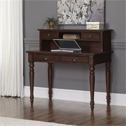 Home Styles Country Comfort Student Desk and Hutch in Aged Bourbon
