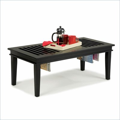 Home Styles Furniture Rectangular Wood Cocktail Table in  Black