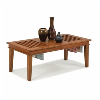 Home Styles Furniture Wood Cocktail Table in Cottage Oak Finish