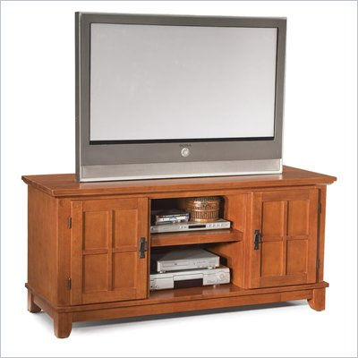 Home Styles Arts &amp; Crafts Entertainment Console in Cottage Oak