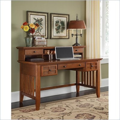 Home Styles Arts & Crafts Executive Desk & Hutch