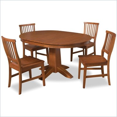 Home Styles Arts &amp; Crafts 5 Piece Dining Set in Cottage Oak