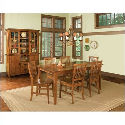 Home Styles Arts &amp; Crafts 5 Piece Hardwood Dining Set in Cottage Oak