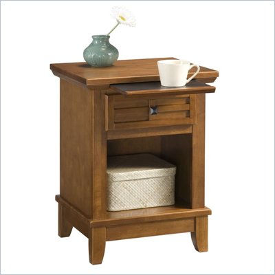 Home Styles Arts &amp; Crafts Night Stand in Cottage Oak Finish