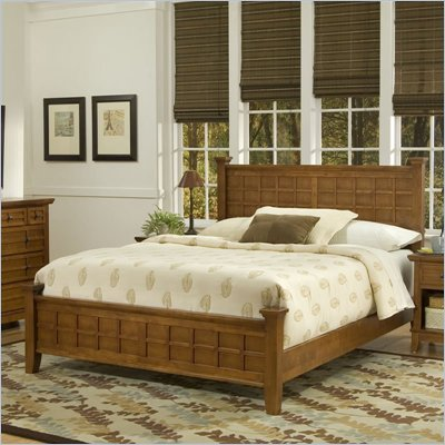 Home Styles Arts &amp; Crafts Queen Bed in Cottage Oak Finish