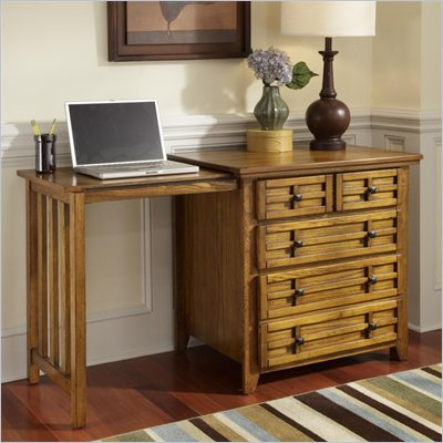 Home Styles Arts &amp; Crafts Expand-a-Desk in Cottage Oak Finish