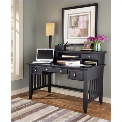 Home Styles Arts &amp; Crafts Executive Desk &amp; Hutch