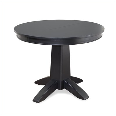 Home Styles Arts &amp; Crafts Round Dining Table in Black