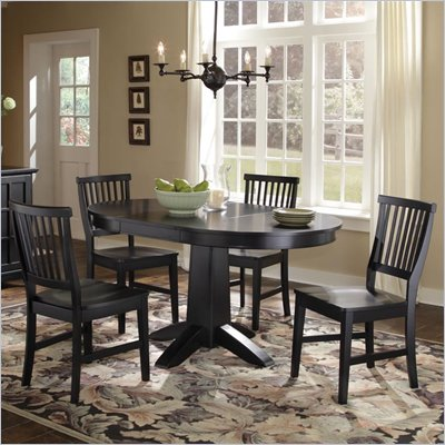 Home Styles Arts &amp; Crafts 5 Piece Dining Set in Black Finish