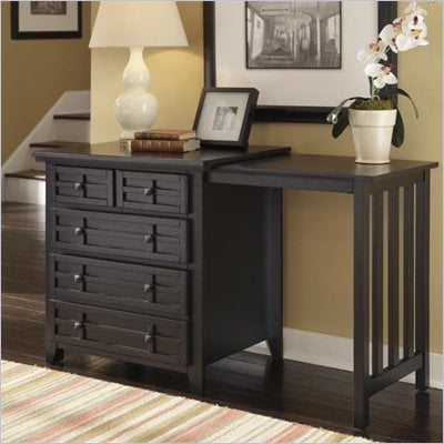 Home Styles Arts & Crafts Expand-a-Desk in Black Finish