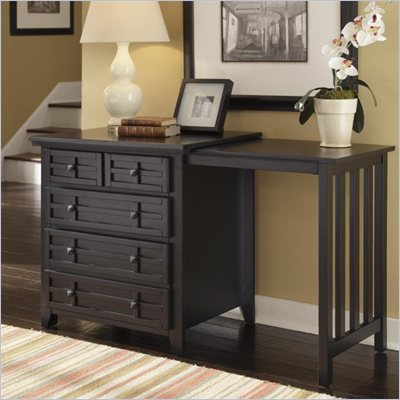 Home Styles Arts &amp; Crafts Expand-a-Desk in Black Finish