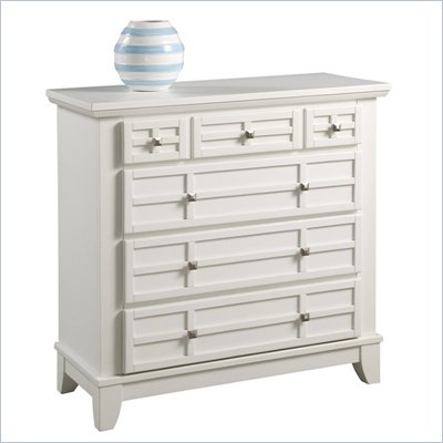Home Styles Arts &amp; Crafts Chest in White Finish