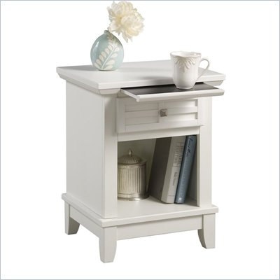 Home Styles Arts &amp; Crafts Night Stand in White Finish
