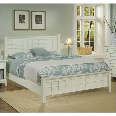 Home Styles Arts & Crafts Queen Panel Bed in White