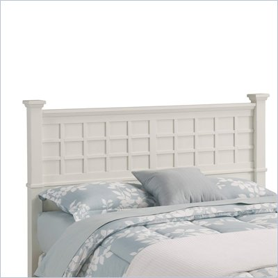 Home Styles Arts &amp; Crafts Queen Headboard in White Finish