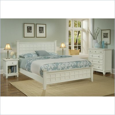 Home Styles Arts &amp; Crafts Headboard Set in White