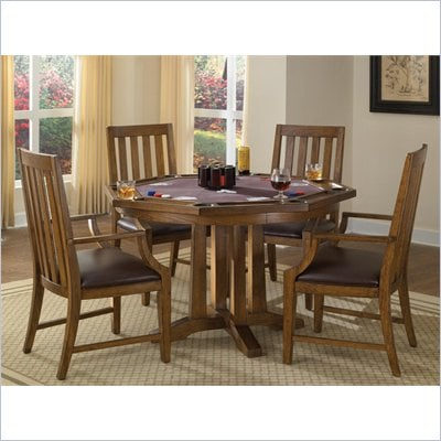 Home Styles Arts & Crafts 5 Piece Game Table Set