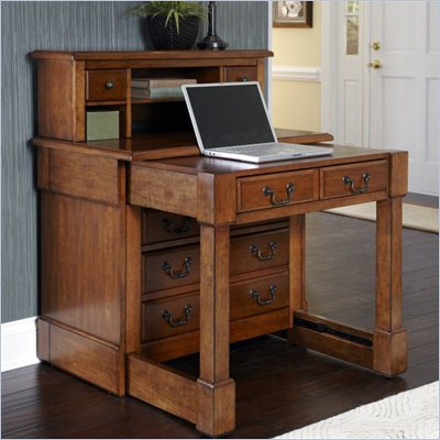Home Styles Aspen Expanding Desk with Hutch in Rustic Cherry Finish