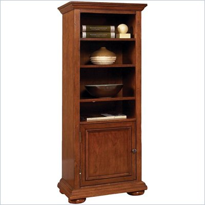 Home Styles Furniture Homestead Wood 6 Shelf Audio Rack/Bookcase in Distressed Oak