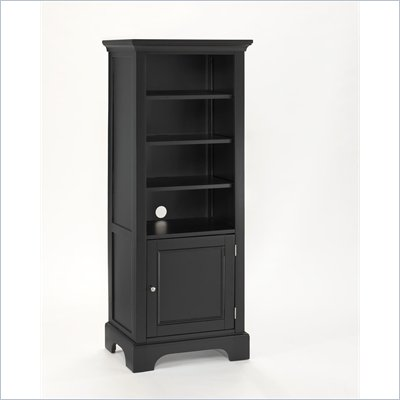 Home Styles Furniture Bedford 4 Shelf Wood Audio Rack/Bookcase in Ebony