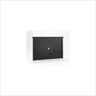 Home Styles Furniture Bedford Back Panel for Entertainment Center in Black Finish