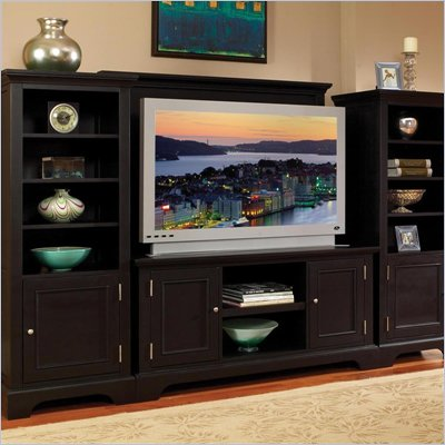 Home Styles Bedford 3 Piece Entertainment Center in Ebony Finish