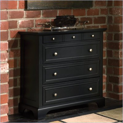 Home Styles Bedford 4 Drawer Chest in Ebony Finish