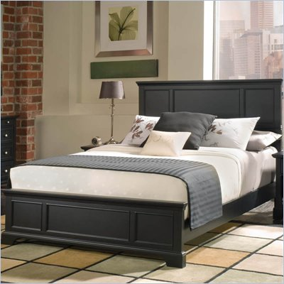 Home Styles Bedford Queen Panel Bed in Ebony Finish