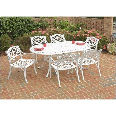 Home Styles Biscayne 7PC 72” Oval Dining Table Set