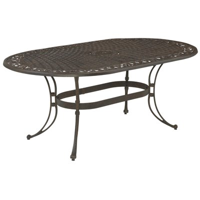 Home Styles Biscayne Oval Outdoor Dining Table in Rust Finish