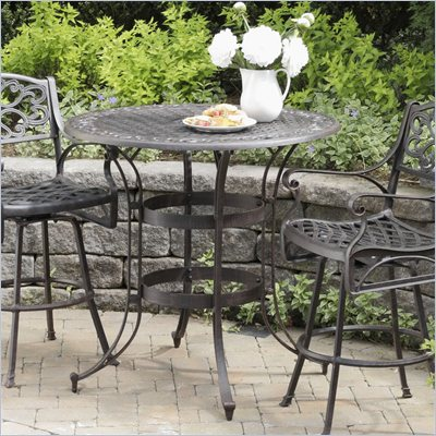 Home Styles Biscayne High Top Bistro Table in Rust Finish