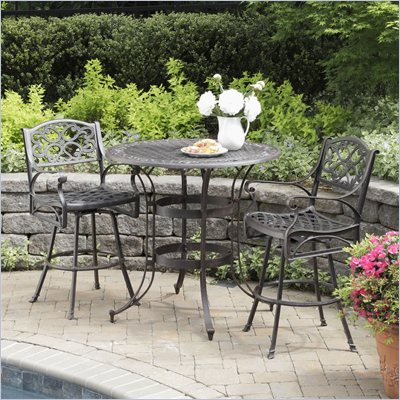 Home Styles Biscayne 3 Piece Bistro Set in Rust Finish