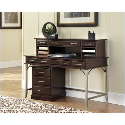 Home Styles Bordeaux Executive Desk, Hutch and Mobile File in Espresso