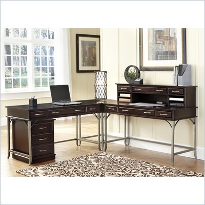 "Home Styles Bordeaux Corner ""L"" Desk in Espresso"