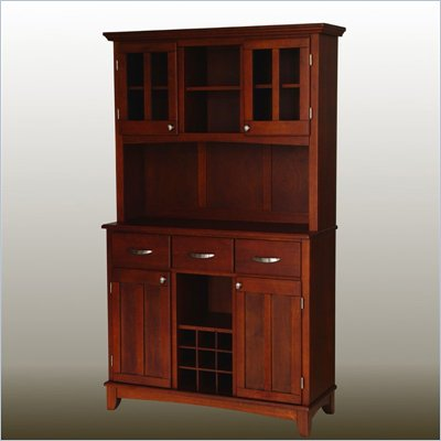 Home Styles Furniture Cherry Buffet with 2-Door Hutch