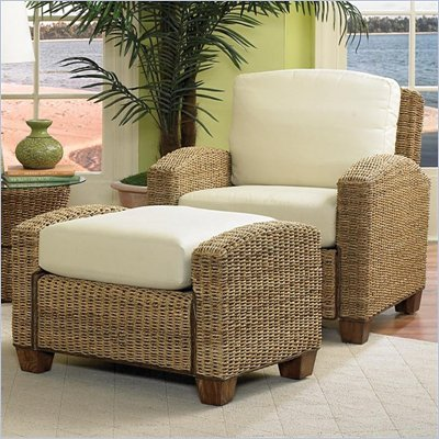 Home Styles Furniture Cabana Banana 2 Piece Set: Chair and Ottoman in Honey Finish