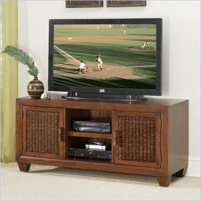 Home Styles Cabana Banana 56 Inch TV Stand in Cocoa Finish