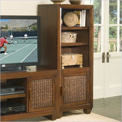 Home Styles Cabana Banana Audio Pier Cabinet in Cocoa Finish