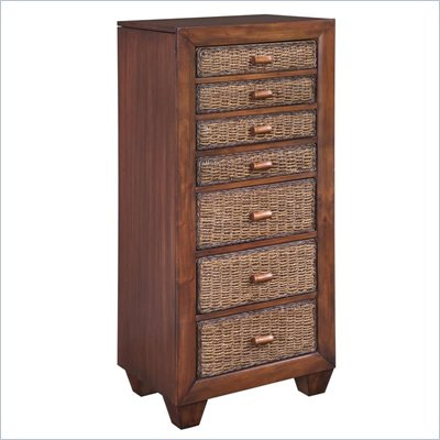 Home Styles Cabana Banana Lingerie Chest / Jewelry Armoire in Cocoa Finish