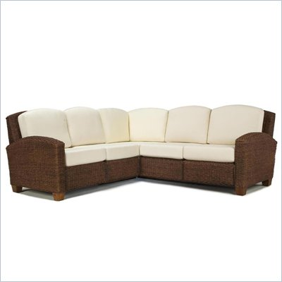 Home Styles Cabana Banana L-Shape Sectional Sofa in Cocoa