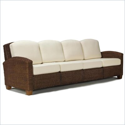 Home Styles Cabana Banana 4 Section Sofa in Cocoa